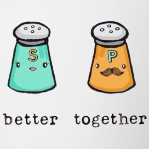 better together salt n pepper - Contrast Coffee Mug
