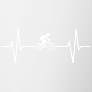 My heart beats for cycling! gift - Contrast Coffee Mug