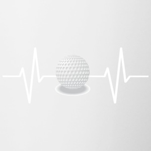 My heart beats for golf! gift - Contrast Coffee Mug