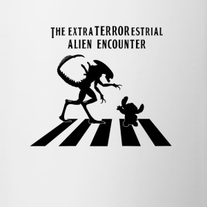 Alien Encounter Abbey Road - Contrast Coffee Mug