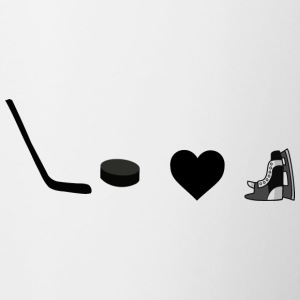 hockey love3 - Contrast Coffee Mug