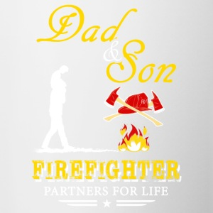 Dad And Son Firefighter T-Shirts - Contrast Coffee Mug