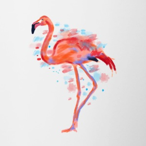Flamingo Aquarell Illustration Beach Holiday - Contrast Coffee Mug