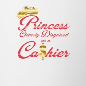 Princess Cleverly Disguised as a Cashier Retail - Contrast Coffee Mug