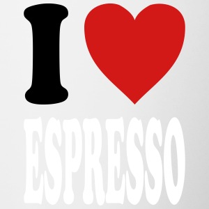 I love Espresso (variable colors!) - Contrast Coffee Mug