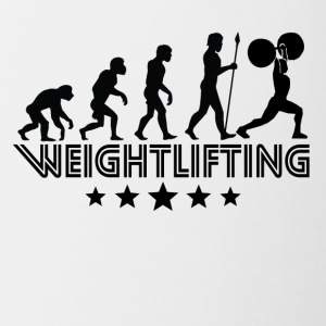 Retro Weightlifting Evolution - Contrast Coffee Mug