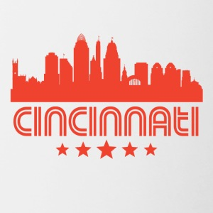 Retro Cincinnati Skyline - Contrast Coffee Mug