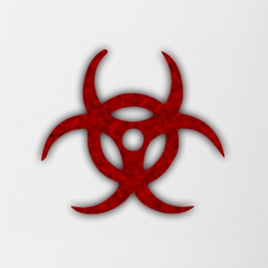 TOXIC BIOHAZARD RED BLOOD SYMBOL - Contrast Coffee Mug