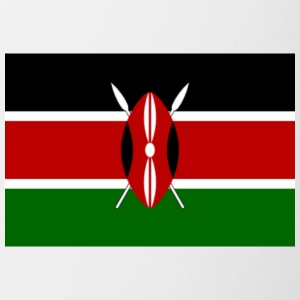kenyan flag graphic - Contrast Coffee Mug