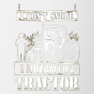 I DREAM I'M A TRACTOR - Contrast Coffee Mug