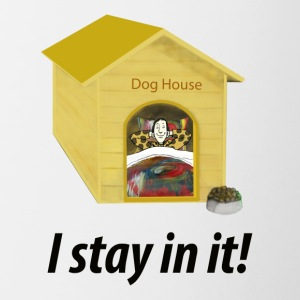 In the Doghouse - Contrast Coffee Mug
