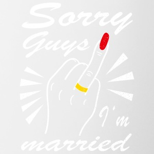 Sorry guys I'm married - Contrast Coffee Mug