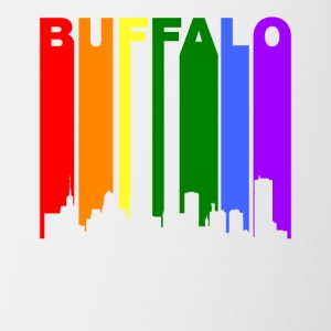 Buffalo New York Rainbow LGBT Gay Pride - Contrast Coffee Mug