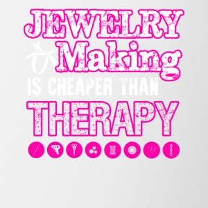 Jewelry Making Cheaper Than Therapy Shirt - Contrast Coffee Mug
