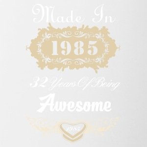 Made in 1985 32 years of being awesome - Contrast Coffee Mug
