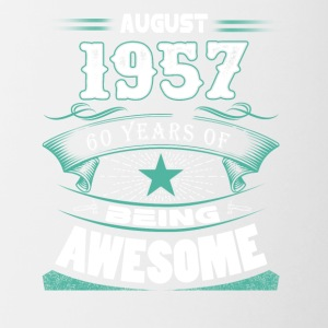 August 1957 - 60 years of being awesome - Contrast Coffee Mug