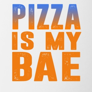pizza is my bae - Contrast Coffee Mug