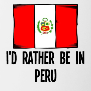 I'd Rather Be In Peru - Contrast Coffee Mug