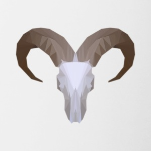 Low Poly Aoudad Skull - Contrast Coffee Mug