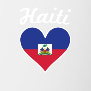 Haiti Flag Heart - Contrast Coffee Mug