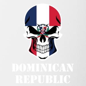 Dominican Flag Skull Dominican Republic - Contrast Coffee Mug