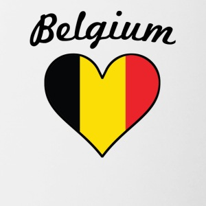 Belgium Flag Heart - Contrast Coffee Mug