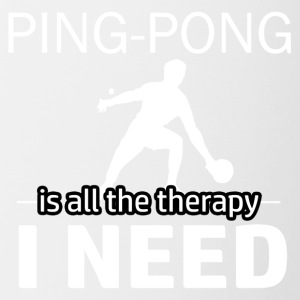 Ping Pong is my therapy - Contrast Coffee Mug