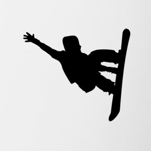 Snowboarder Silhouette Snowboarding - Contrast Coffee Mug