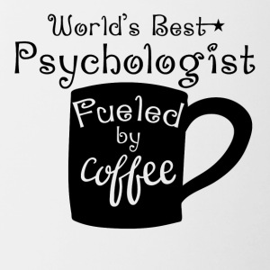 World's Best Psychologist Fueled By Coffee - Contrast Coffee Mug