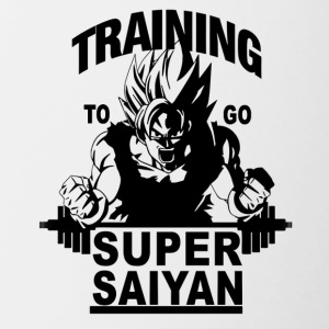 Training to go saiyan - Contrast Coffee Mug