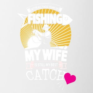 Fisherman Love His Wife Shirt - Contrast Coffee Mug