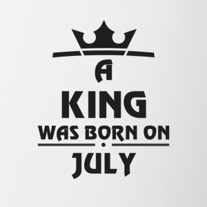 A KING WAS BORN ON JULY - Contrast Coffee Mug