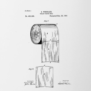 Toilet paper patent - Contrast Coffee Mug
