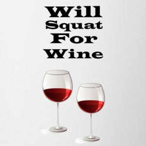 Will squat for wine - Contrast Coffee Mug