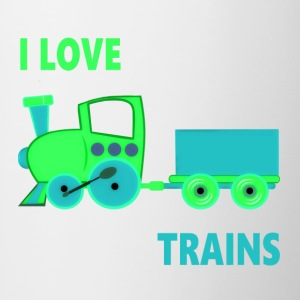 I Love Trains - Contrast Coffee Mug