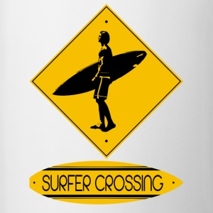 Surfer Crossing - Contrast Coffee Mug