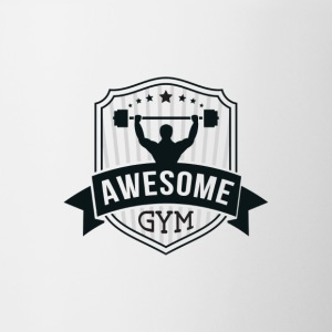 Awesome gym logo - Contrast Coffee Mug
