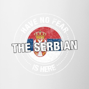 Have No Fear The Serbian Is Here - Contrast Coffee Mug