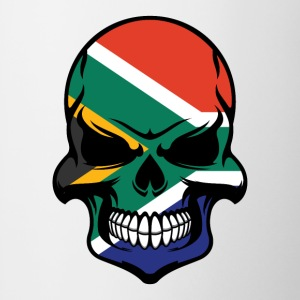 South African Flag Skull Cool South Africa Skull - Contrast Coffee Mug