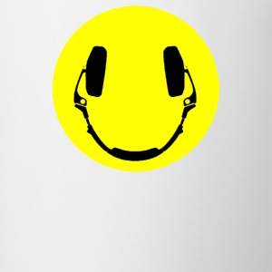 Headphones smiley - Contrast Coffee Mug