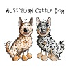 Two funny Australian Cattle Dogs - Dog - Contrast Coffee Mug