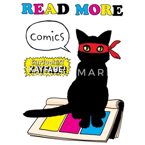 Read More Comics Ninja Cat Two-Tone Mug   Spreadshirt