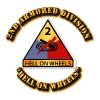 Army - 2nd Armored Division - Hello on Wheels - Coffee/Tea Mug