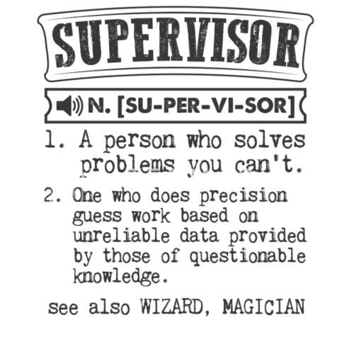 supervisor definition gift mug by kamikaza spreadshirt