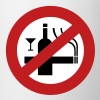 NO Smoking Alcohol Sign - Coffee/Tea Mug