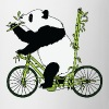 Panda Bear Riding Bamboo Bike - Coffee/Tea Mug