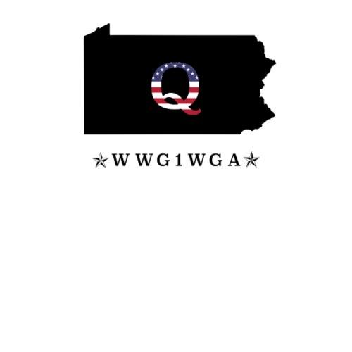 d58db1dd4 Trump WWG1WGA USA Flag Deep State Pennsylvania black. Do you want to edit  the design?