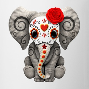 Red Sugar Skull Elephant
