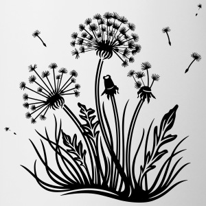 Large dandelion, summer and spring. - Coffee/Tea Mug