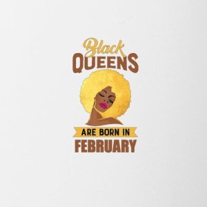 Womens Black Queen Are Born In February T Shirt - Coffee/Tea Mug